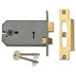Union J2077-5 - 3-Lever Horizontal Mortice Sash Lock - 5 inch/124mm