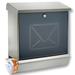 Burg Wachter Lucca Letter Set 37130 Ni - Lucca Letter Set 37130 Ni Stainless Steel Letter Box