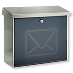 Burg Wachter Lucca Letter 3713 Ni - Lucca Letter 3713 Ni Stainless Steel Letter Box