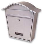 Sterling Locks MB01S - Silver Classic Post Box