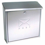 Sterling Locks MB03ST - Stainless Steel Contemporary Post Box