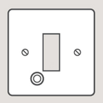 Wandsworth P255 - Classic Fused Connection Unit Plate with Cable Outlet