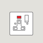 Wandsworth P376 - Classic Single Switched 3-Pin Socket Outlet Cover Plate Only with Neon Indicator