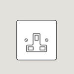 Wandsworth P12123 - Classic Single Unswitched 3-Pin Socket Outlet Cover Plate Only