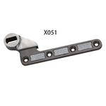 Exidor X051 - Floor Spring Single Action Bottom Fitting Strap 16mm