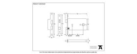 From The Anvil 90247 - Black 6 inch 5-Lever Horizontal Sash Lock - 127mm backset
