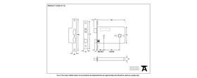 From The Anvil 91116 - Black 5 inch Horizontal 3 Lever Sash Lock - 102mm backset