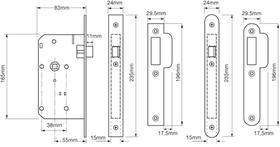Union JL2C23 - JL2C23 Euro Profile Mortice Latch - 55mm backset