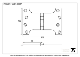 From The Anvil 33047 - Black Ball Bearing Parliament Hinge 4 x 6 inch