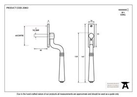 From The Anvil 20463 - Brushed Satin Chrome Teardrop Reversible Locking Espag Fastener