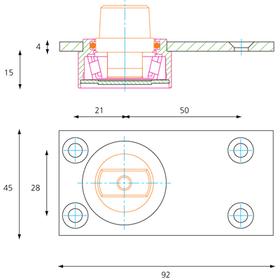 Exidor 2000/4F - Floor Pivot 400 KG