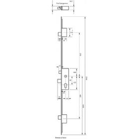 From The Anvil 91910 - Espagnolette Door Keep Set for 57mm door