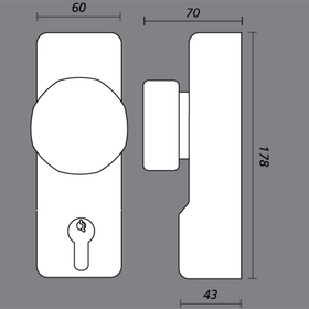 Exidor 302 - 302 Knob Operated Outside Access Devices
