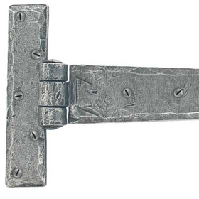 From The Anvil 33656 - Pewter Patina T-Hinge Penny End 18 inch