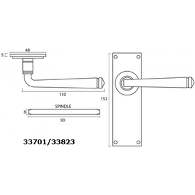 From The Anvil 33823 - Black Avon Lever Latch Set