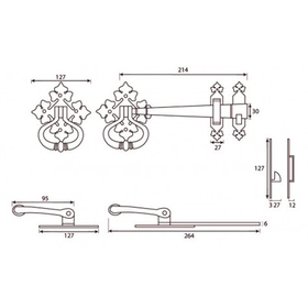 From The Anvil 33819 - Black Shakespeare Latch Set
