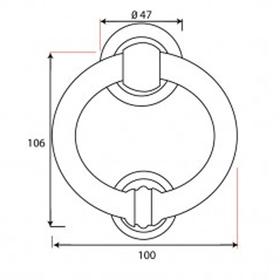 From The Anvil 33869 - Black 4 inch Ring Door Knocker