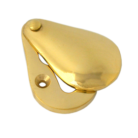From The Anvil 83557 - Plain Escutcheon - Polished Brass