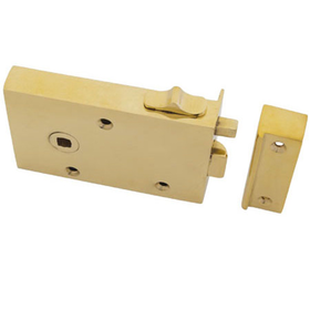 From The Anvil 83570 - Brass Left Hand Bathroom Rim Latch