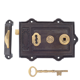 From The Anvil 83578 - Davenport Rim Lock - Iron