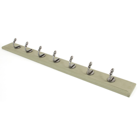 From The Anvil 83741 - Stable Coat Rack - Natural Smooth/Olive Green