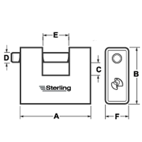 Sterling Locks ASP180 - Armoured Steel Shutter Lock 62mm