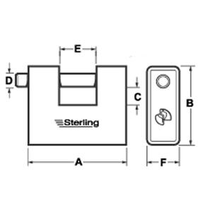 Sterling Locks ASP190 - Armoured Steel Shutter Lock 91mm