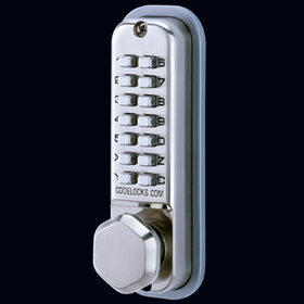Codelocks CL290 KEY - Mechanical Codelock with Mortice Latch with Key Override - Back to Back