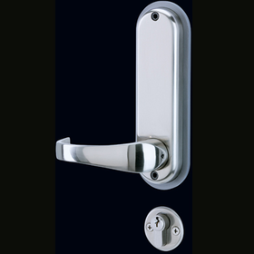 Codelocks CL525 - Heavy Duty Mortice Lock with Couble Cylinder, 3 Keys and Anti-Panic Safety Feature. Code Free Option.