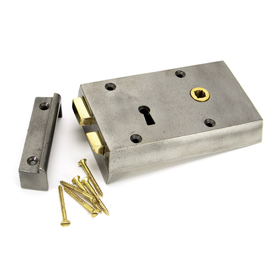 From The Anvil 83584 - Iron Right Hand Rim Lock - Small