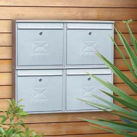 Sterling Locks MB02R - Red Elegance Post Box