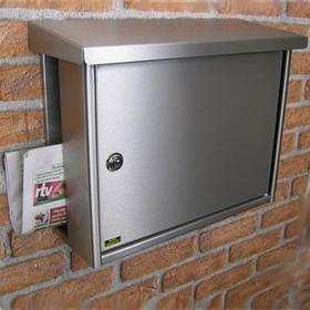 Burg Wachter Hanseatic 3816 Ni - Hanseatic 3816 Ni Stainless Steel Letter Box