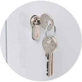 Sterling Locks KC100HE - Heavy Duty Single Door Lockable Key Cabinet Euro Lock Case - 100 Keys