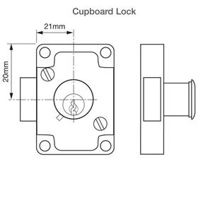 Union J4147 - Cylinder Cupboard/Drawer Lock