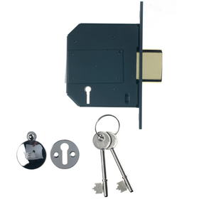 Yale PM562-CH-80 - PM562 British Standard 5-Lever Deadlock: 3 inch Polished Chrome