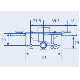 ERA Saracen Saracen5-22mm - FM/Valiant Window Deadlock Gearbox - Serrated Fix 22mm