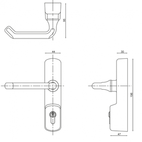 Exidor 325 - NEW 325 Lever Operated Outside Access Device