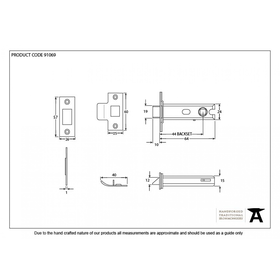 From The Anvil 91069 - SSS  Heavy Sprung Tubular Mortice Latch 2.5 inch