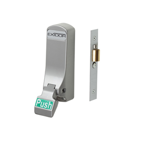 Exidor 306 - Push Pad Mortice Actuator with Cylinder Mortice Night Latch