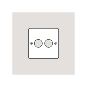 Wandsworth 318 - Classic 2-Gang Dimmer Plate & Knobs