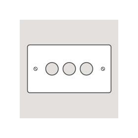 Wandsworth 319 - Classic 3-Gang Dimmer Plate & Knobs