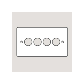 Wandsworth 320 - Classic 4-Gang Dimmer Plate & Knobs