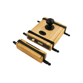 From The Anvil 33005 - Oak Box Lock with Traditional Black Fittings