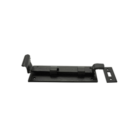 From The Anvil 33016 - Black Cranked Door Bolt 6 inch - Outward Opening