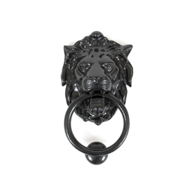From The Anvil 33018 - Black Lions Head Door Knocker