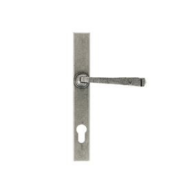 From The Anvil 33034 - Pewter Patina Avon Slimline Espag Lock Set on Backplate 92mm