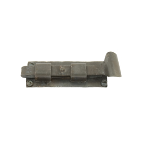 From The Anvil 33127 - Beeswax 4 inch Straight  Cupboard Bolt - Inward Opening