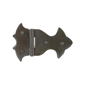From The Anvil 33219 - Beeswax Ornate Hinge 3.75 x 2.25 inch