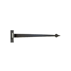 From The Anvil 33234 - Black Barn Door Hook and Band Hinge 35 inch - Cranked