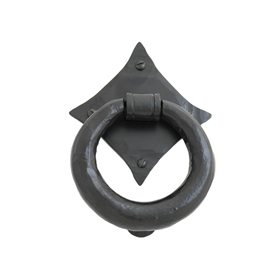 From The Anvil 33245 - Black Ring Door Knocker